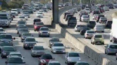 Ruchu autostrady w los angeles — Wideo stockowe