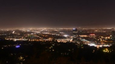 San Fernando Valley At Nigh — Stock video