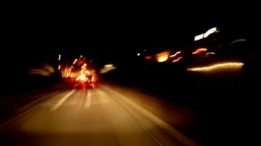 Traffic In Los Angeles At Night — Stock Video