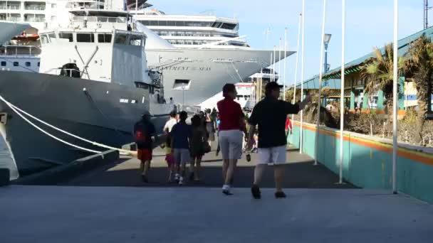 Bahamas Cruise Ship Port — Vídeo de stock