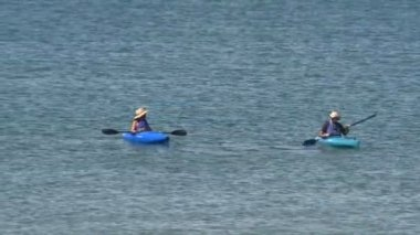 Kayakers At Mono Lake — Stock Video