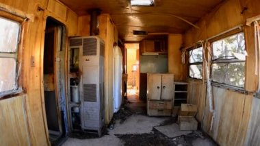 Time Lapse Dolly of Abandon Motor Home — Stock Video