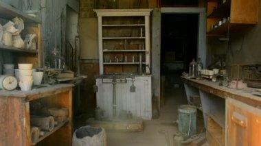Antique, rural store-museum — Stock Video