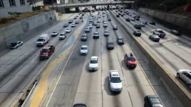 Traffic Jam in Downtown Los Angeles — Stock Video