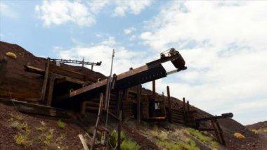 Time Lapse of Abandon Mine Daytime — Stock Video