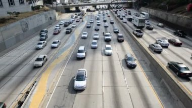 Daytime Traffic Jam in Downtown Los Angeles — Stock Video