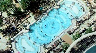 Time Lapse Hotel Pool in Las Vegas — Stock Video