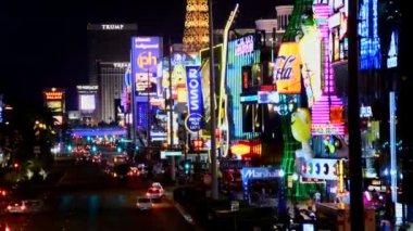 時間の経過、ラスベガスのストリップの夜 — ストックビデオ