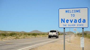 California Nevada State Border — Stock Video