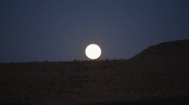 Moon Rise in the Mojave Desert — Stock Video
