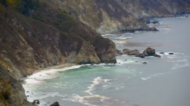 Big Sur California Coastline — Stock Video