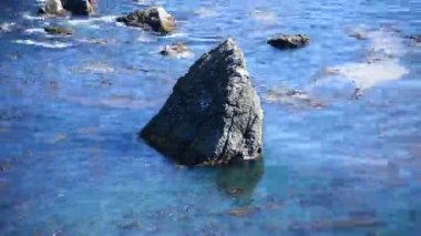 Onde dell'oceano che si infrangono sulle rocce — Video Stock