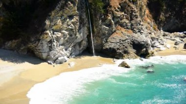 McWay Falls Beach — Stock Video