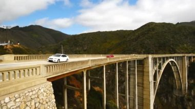 Bixby Creek Bridge, Big Sur California — Stock Video
