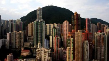 Time Lapse of Sunrise of Hong Kong Skyline — Vídeo de Stock