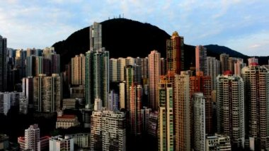 Sunrise of Hong Kong Skyline — Stock Video