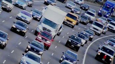 ロサンゼルスの高速道路交通 — ストックビデオ