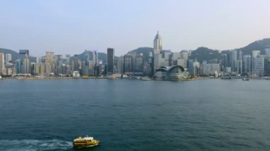 Victoria Harbour and Hong Kong Skyline — Stock Video