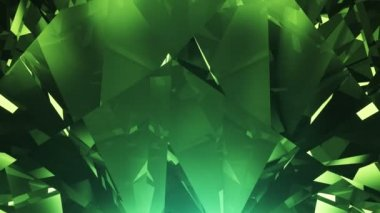 Green diamond background loop — Stock Video