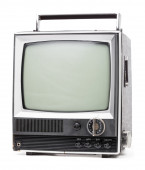 Old handheld television — Stock Photo