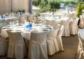 Table set at wedding — Stock Photo