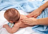 Baby back massage — Stock Photo