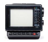 Old handheld radio and television set — Photo