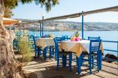 Seaside cafe terrace — Stok fotoğraf