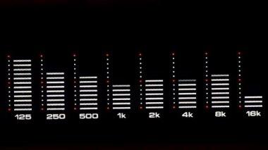 Audio spectrum analyzer — Stock Video