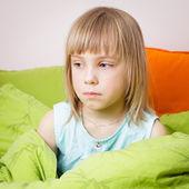 Portrait of little girl with pox — Fotografia Stock