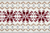 Knitted fabric cloth ornament — Stockfoto