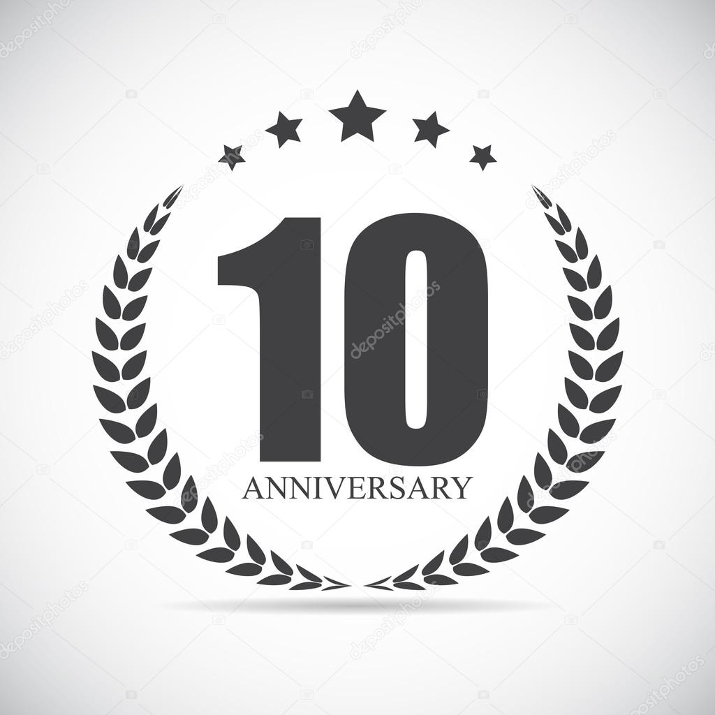 Template logo years anniversary vector illustration