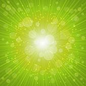 Green Summer Background. Vector Illustration — Stock Vector