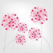 Renkli arka plan ile çiçekler. vektör çizim. — Stok Vektör