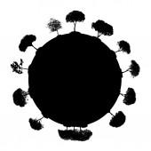 Abstraktní silueta strom. vektorové ilustrace. — Stock vektor