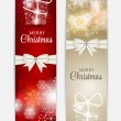 Christmas Snowflakes Website Header and Banner Set Background Ve — Stock Vector #52250649