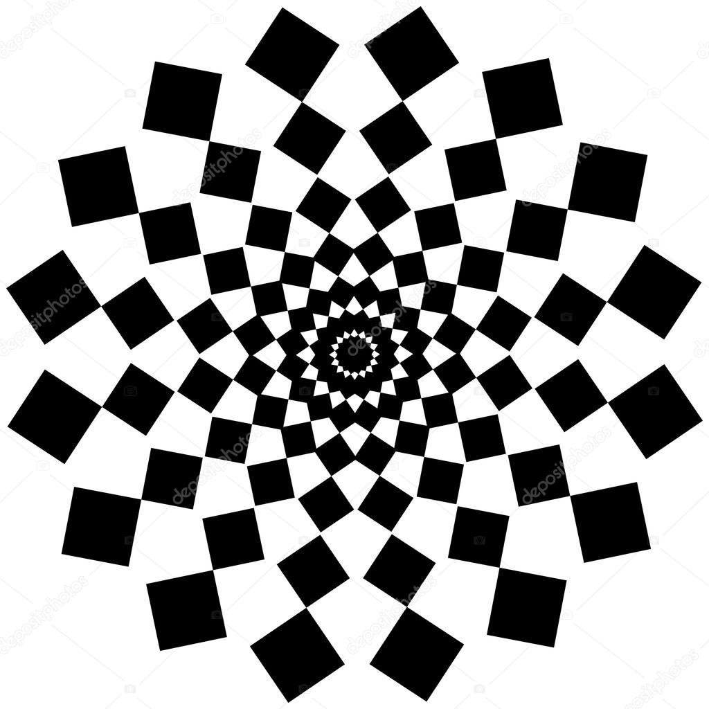 schwarz wei abstrakte psychedelische kunst hintergrund vektor illu stockvektor 52304823. Black Bedroom Furniture Sets. Home Design Ideas