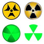 Isolated Symbols of Radiation Vector Illustration. — Stock Vector