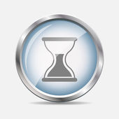 Time Glossy Icon Vector Illustration — Vector de stock