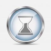 Time Glossy Icon Vector Illustration — Stockvector