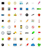 Mega Set of Flat Icons Vector Illustration. — Stock Vector