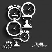 Modern Flat Time Management Vector Icon for Web and Mobile Appli — Stock Vector