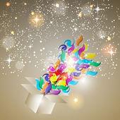 Christmas Glossy Star Background Vector Illustration — Stock Vector