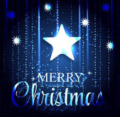 Christmas Glossy Star Background. Vector Illustration. — Stock Vector