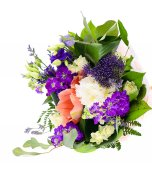 Colorful Flowers Bouquet Isolated on the White Background — Stock Photo