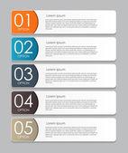 あなたのビジネスのためのインフォ グラフィック デザイン要素ベクトル イラスト — ストックベクタ