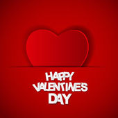 Happy Valentines Day Card. Vector Illustration — Stock Vector
