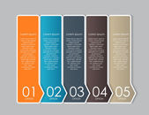 Infographic Design Elements for Your Business Vector Illustratio — 图库矢量图片