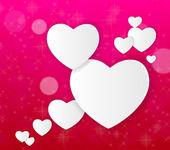 Heureuse Saint Valentin carte. illustration vectorielle — Vecteur