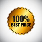 Best Price Golden Label Vector Illustration — Cтоковый вектор